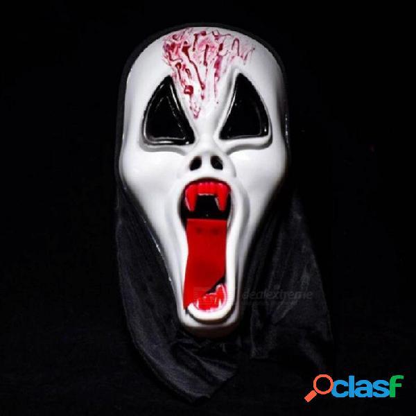Darth vader casco máscaras máscara cráneo 1pc halloween terrorista diablo cara completa grito esqueleto kito con color blanco blanco