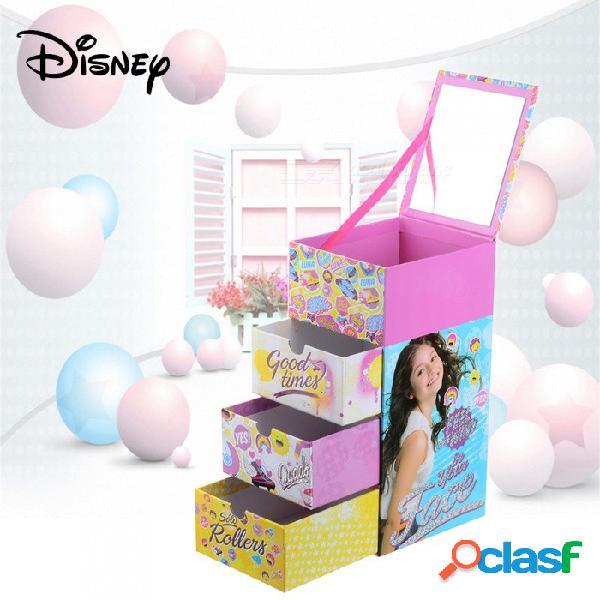 Disney soy luna cartoon cute cuatro capas caja de memoria musical, funda de almacenamiento para niños multicolor