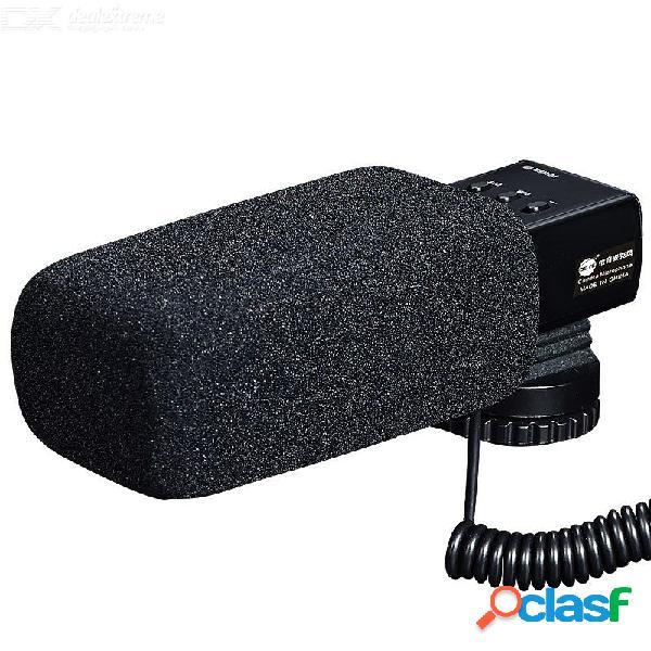 Dste entrevista en la cámara x / y micrófono de video estéreo para canon 5d mark iv 5d4 80d 5d mark iii 5d3 nikon d850 d5600 d7500 d750