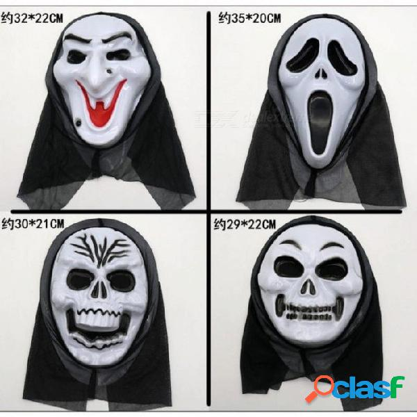 Halloween gritar horror decoración máscara apoyos fiesta cráneo diablo vampiro cadáver ciempiés bruja sangrado máscaras faciales negro