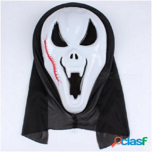 Halloween solo grito máscara fiesta horror grande solo máscara cosplay decoración diablo monolítico máscara gritando cráneo blanco