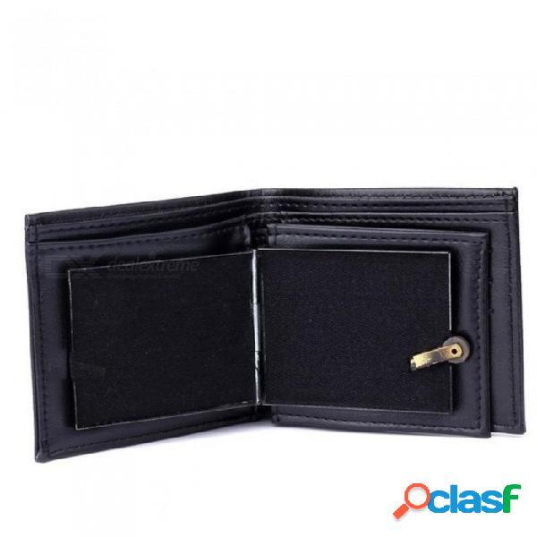 Llama billetera trucos de magia gran llama billetera de cuero mago truco etapa calle espectáculo apoyos mágicos gracioso billetera bifurcada al aire libre negro