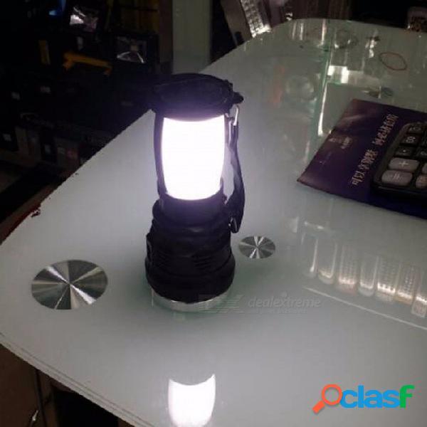Luz Solar LED Lámpara De Mano Recargable Lámpara De Camping Linterna AC110-220V Luces De La Tienda Para La Iluminación Al Aire Libre Senderismo 3 W / Negro