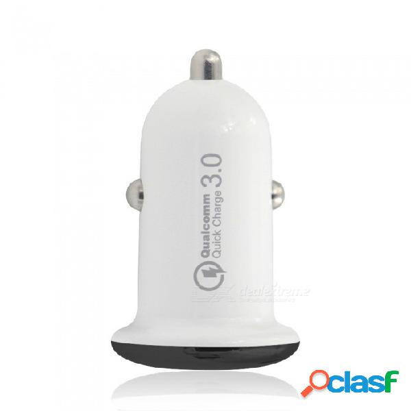 Qc3.0 adaptador de cargador de coche usb 3.0 de carga rápida usb 3.0 para iphone x / iphone 8 plus / 8 / 7 plus / iphone 7