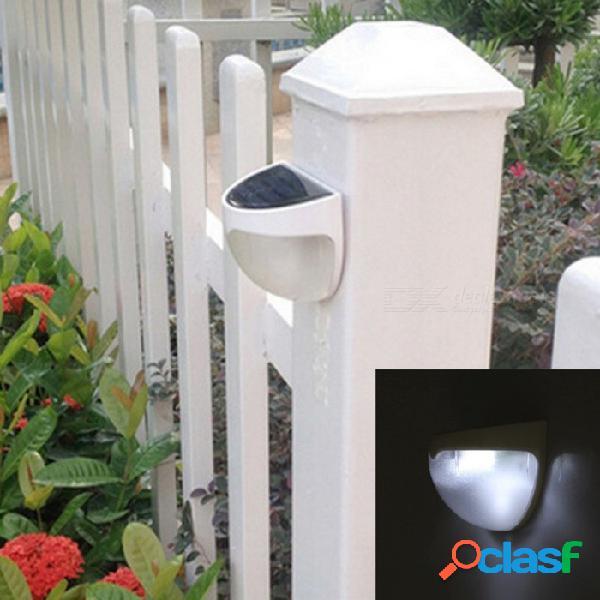 6 led panel de luz solar sensor de luz incorporada en la batería recargable ni-mh impermeable luz solar jardín luz exterior