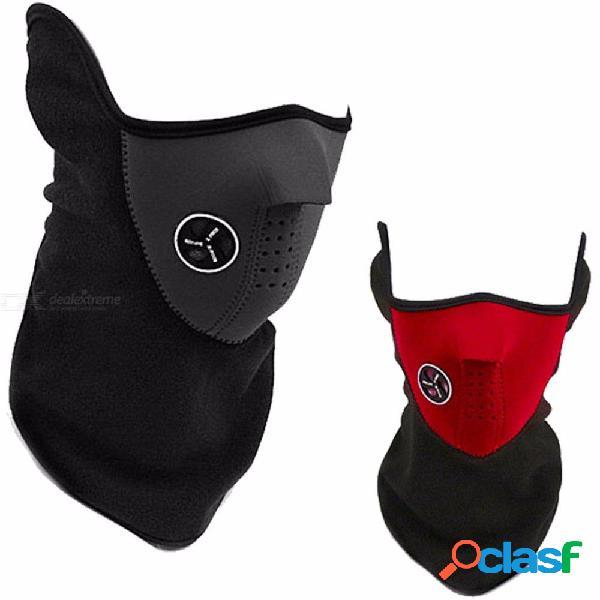 A prueba de viento, media mascarilla, paño grueso y suave, máscaras de esquí, cuello más cálido para el ciclismo de invierno al aire libre