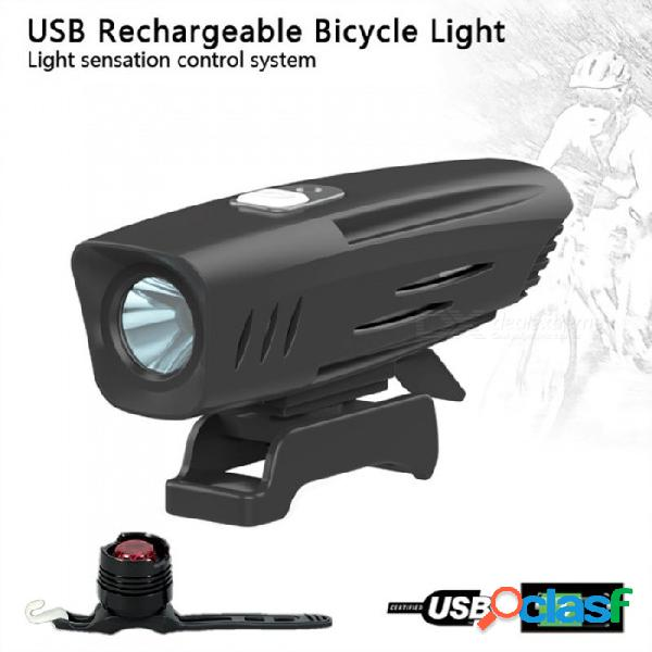 Aibber tone incorporado 2600mah 18650 batería t6 led ciclismo faro cabeza luces delanteras luces traseras con luz trasera de bicicleta