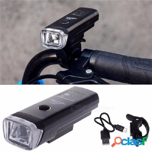 Aleación de aluminio bicicleta luz delantera USB recargable ciclismo lámpara de advertencia faro sensor inteligente a prueba de agua bici luz negro