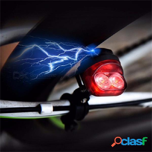 Bicicleta ciclismo inducción electromagnética dínamo luces traseras rojas conjunto de seguridad luz de la bicicleta lámpara led luz trasera roja