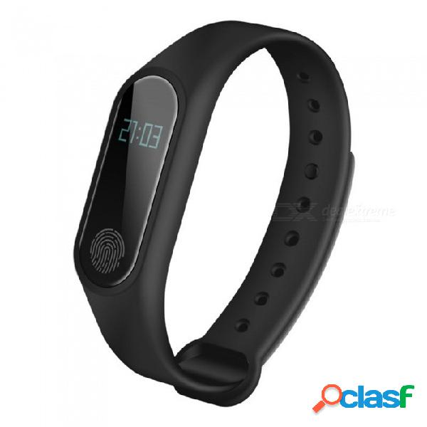 M2 intelligent waterproof step ring the heart rate monitor health campaign hand ring gauge smart reminder heart rate table+black