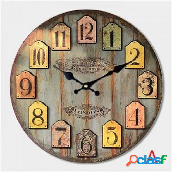 Reloj de pared grande decorativo diseño moderno moda sala de reuniones silenciosa decoración de la pared reloj decoración del hogar reloj pared regalo navidad diámetro 12 pulgadas / c