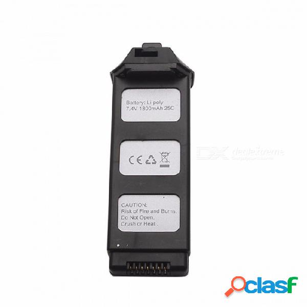 7.4v 1800 mah li-po batería quadcopter batería ajuste perfecto para mjx b5w drone repuestos negro / 25c