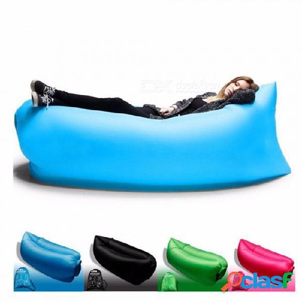 Al aire libre productos de aire rápido inflable sofá cama de buena calidad saco de dormir inflable bolsa de aire bolso perezoso playa suave amarillo