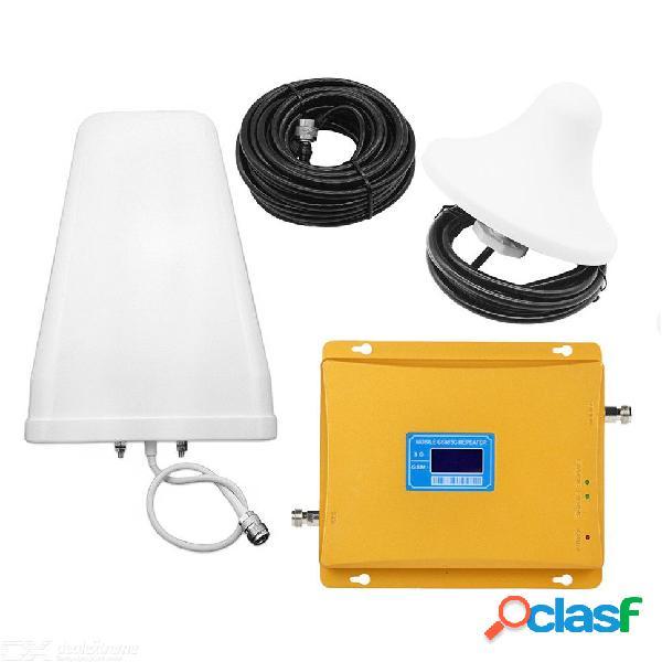 Amplificador de señal de teléfono celular de banda dual gsm / cdma 900 mhz 2100 mhz, kit de amplificador repetidor de señal de célula 2g / 3g