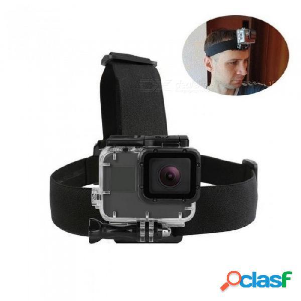 Correa elástica del arnés para gopro hero 5 6 3 4 sesión sjcam sj4000 yi 4k eken h9 soporte de cámara para accesorios go pro negro