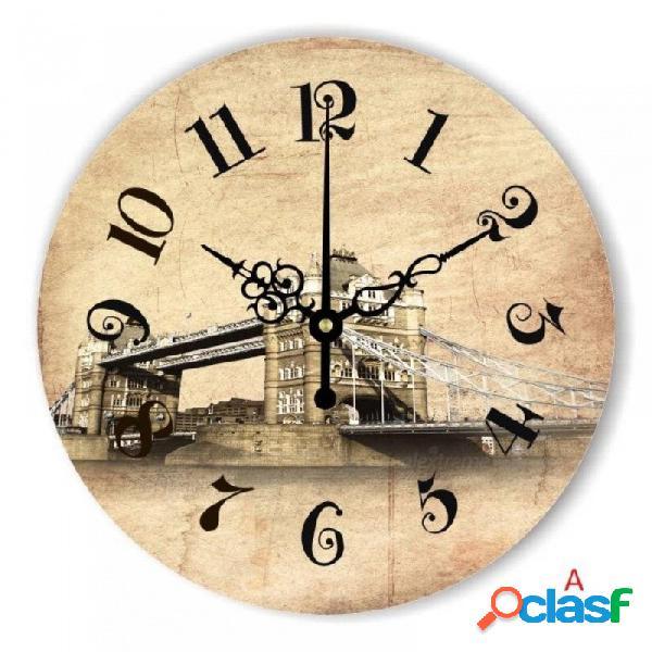 Marca londres big ben 3d decoración de la pared reloj con absolutamente silencioso movimiento reloj europa estilo decoración del hogar reloj de pared regalo 12 pulgadas / c