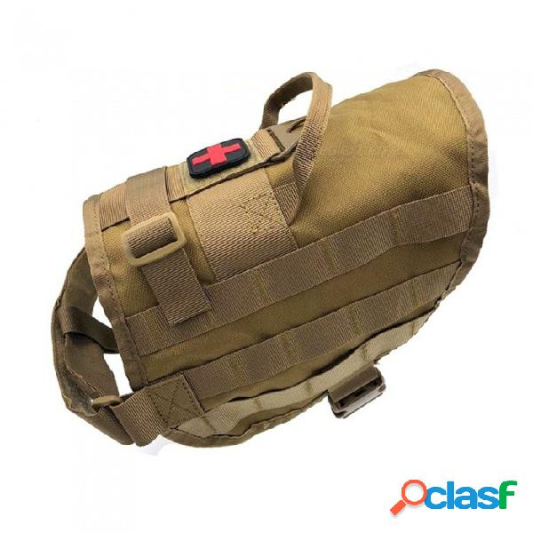 New tactical outdoor equipment the molle vest dog multifunctional military enthusiasts dog back charge edition dog clothes+khaki
