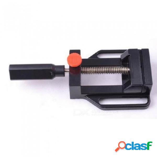 Prensa de taladro de aluminio mini prensa de tornillo herramienta manual de liberación rápida abrazadera mecánica, mecanismo de liberación rápida negro