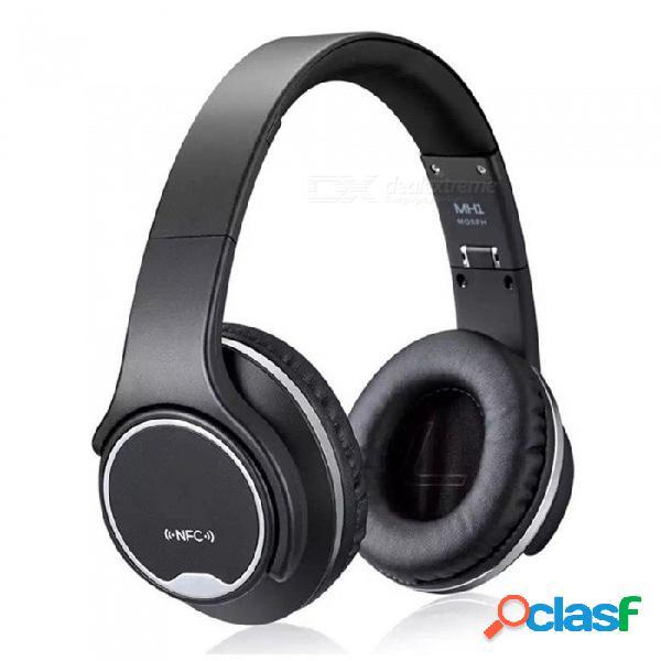 Auricular bluetooth auricular inalámbrico en el oído auriculares estéreo auriculares deportivos plegables manos libres reproductor de mp3 altavoz