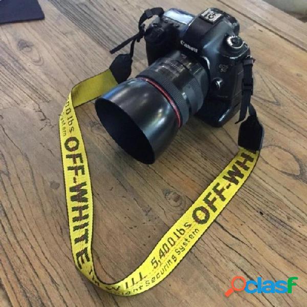 Cuello de neopreno blanco apagado para canon nikon pentax sony fuji olympus cámara rosa / amarillo / plateado / negro / rojo / verde / rosa negro