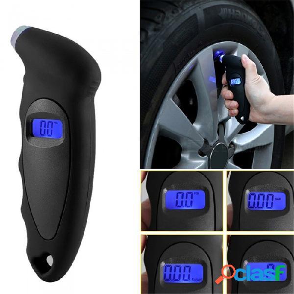 Detector de presión de neumáticos digital de mano quelima detector de presión de neumáticos de coche