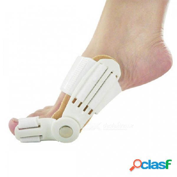 Día y noche orthotast de recitificación dedos del pie hallux valgus corrección cuidado de los pies ortopédicos cuidado de los pies ortopédicos correa 2pcs blanco