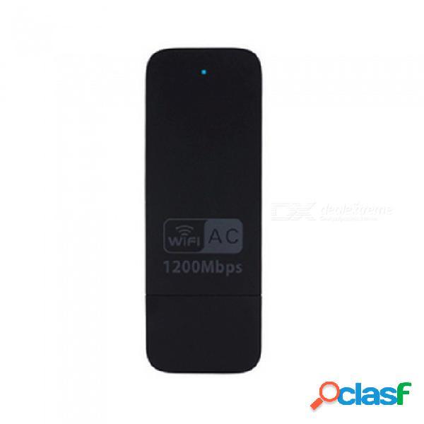 Adaptador wifi usb 1200mbps, tarjeta de red inalámbrica usb 3.0 802.11 ac 1200m para windows10 / 8.1 / 8/7 / xp, mac os x 10.7-10.10