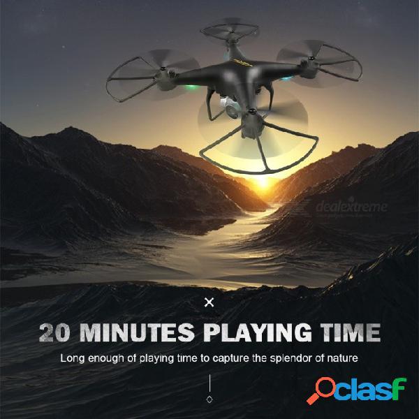 Jjrc h68 bellwether wifi fpv rc quadcopter tiempo de vuelo máximo 20mins con modo de retención de altitud de cámara 720p hd rtf