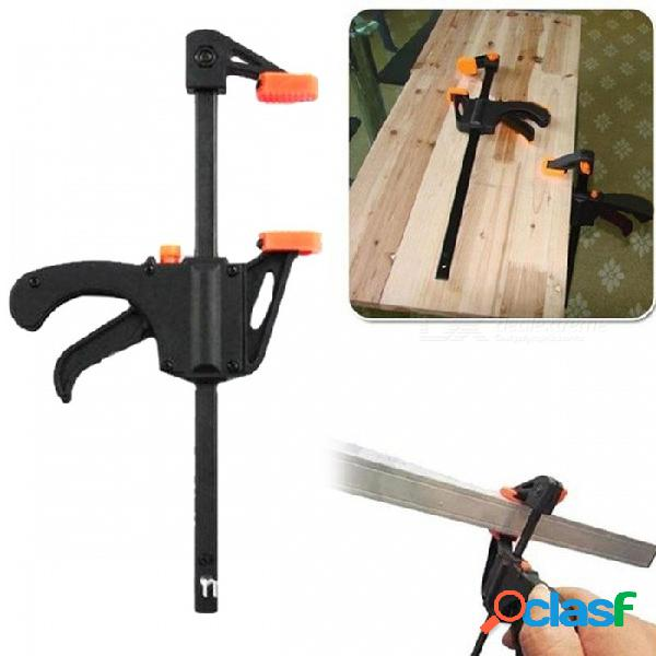 Práctica abrazadera de barra de liberación rápida de plástico, dispositivo de sujeción de clip de carpintería para bricolaje