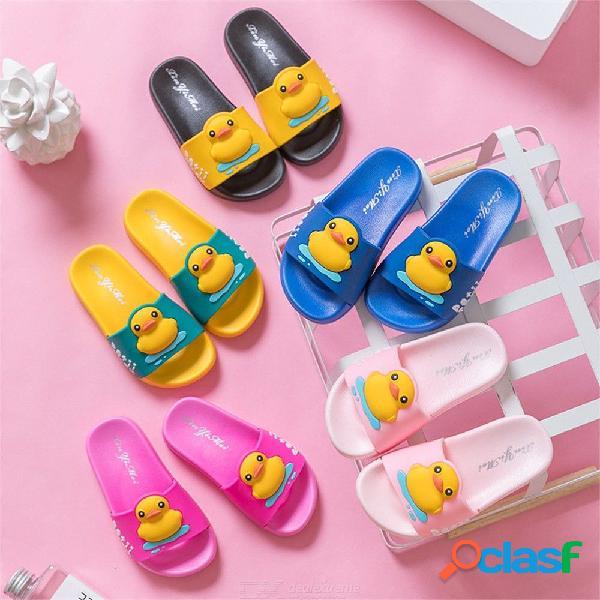 Zapatillas para niños antideslizante portátil bebé grande baño ducha dibujos animados sandalias de pato