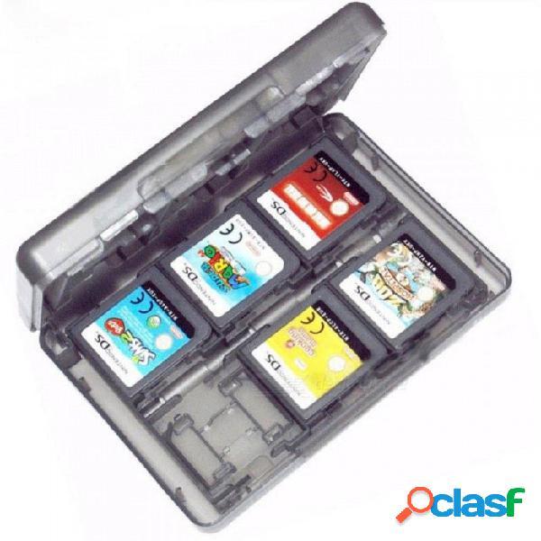 28 ranuras, tarjeta de memoria, soporte, tarjeta de juego, caja de la caja, cartucho antipolvo y protección contra rayones para tarjetas de juegos nintendo 3ds ll xl ds