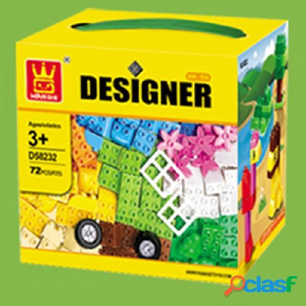 58232 tamaño grande conjunto de ladrillos ciudad diy ladrillos creativos juguete educativo ladrillos de bloques de construcción para niños