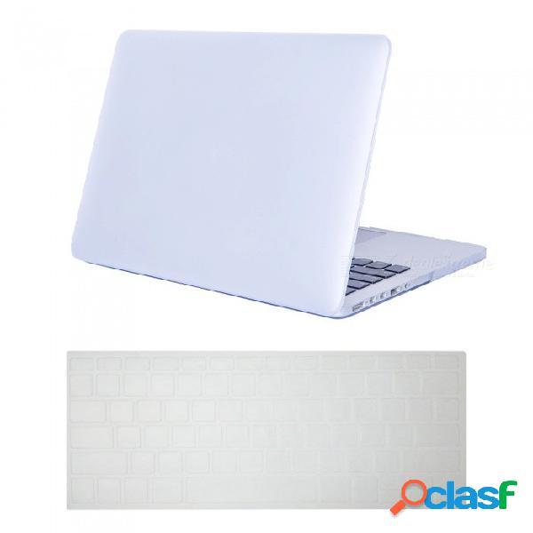 Funda rígida ultra delgada daypirit + funda para teclado para macbook pro a1398 de 15.4 pulgadas con pantalla retina
