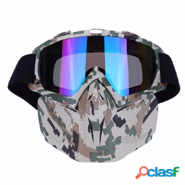 Máscara ligera a prueba de viento que completa un ciclo la máscara de las gafas, gafas de la motocicleta de la bicicleta vidrios para los deportes de invierno esqui snowboard 3
