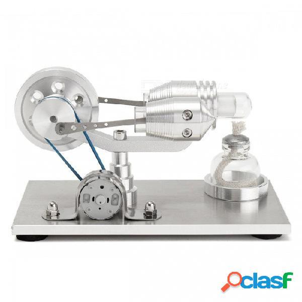 Nueva llegada de acero inoxidable mini aire caliente motor stirling modelo de motor educativo kit de experimentación ciencia experimento establecido para chuldren