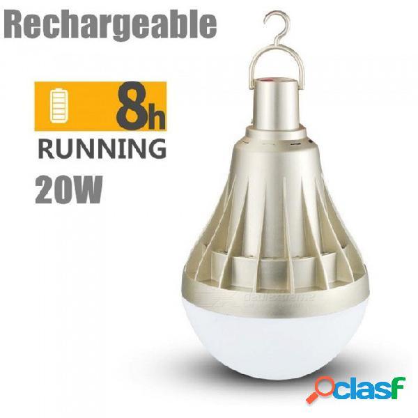Usb recargable bombilla led 5 modos de iluminación regulables bombillas de lámpara portátiles exterior emergencia e27 blanco frío / 30w / oro