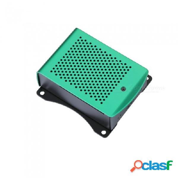 Zhaoyao frambuesa pi 3 más aluminio plateado negro caja negra caja metálica rpi 3 caja compatible con frambuesa pi 3 modelo b