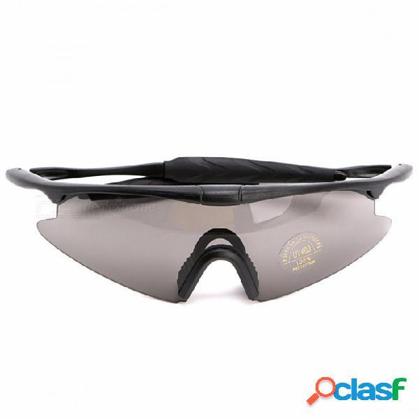 Gafas protectoras tácticas con estilo del protector deportivo táctico uv400, caminatas de caza militares gafas de sol gafas como espectáculo