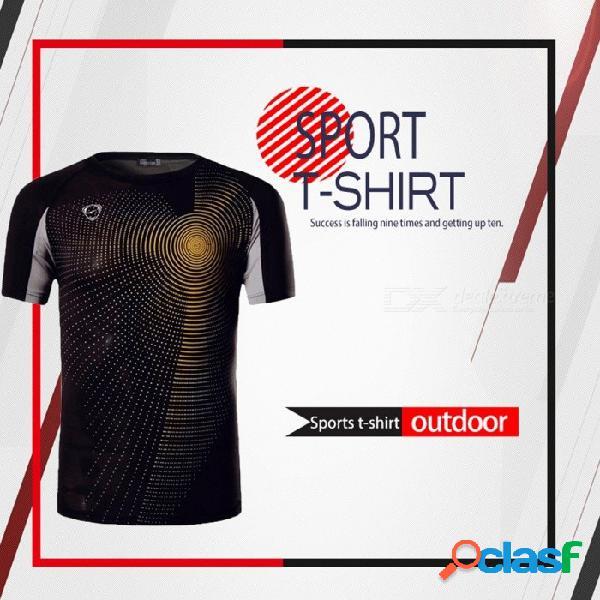 Pantalones deportivos de fitness para hombre, manga corta, compresión de secado rápido, camiseta de entrenamiento, camisetas de entrenamiento lsl013 negro / m