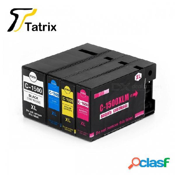 Pgi-1500xl juego completo de 4 colores cartucho de tinta pigmentada, compatible con la impresora canon maxify mb2050, mb2350 bk / m / c / a