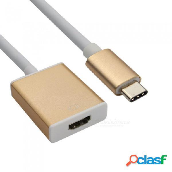 Tipo de aleación de aluminio dayspirit usb 3.1 tipo c a hdmi hembra 1080p cable adaptador adaptador - dorado