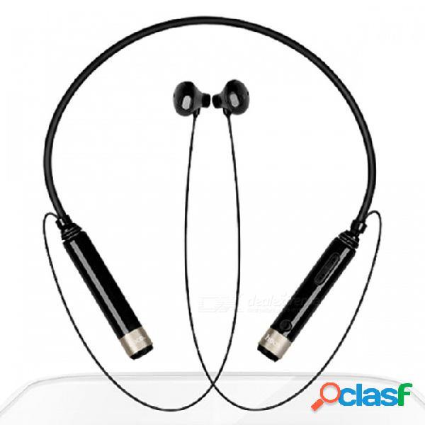 Zhaoyao bluetooth v4.0 auriculares con banda para el cuello inalámbricos deportivos auriculares estéreo - negro