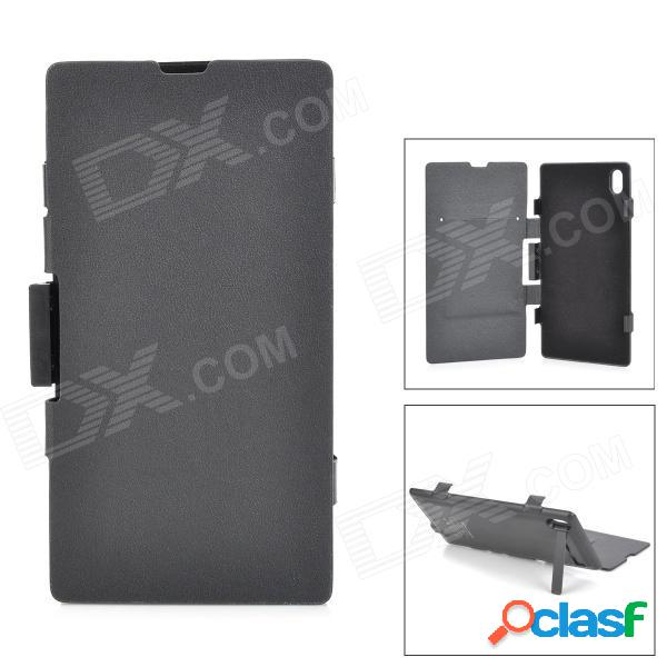 """4200mah"" cargador de batería de alimentación externa w / funda protectora para sony l39h xperia z1 - negro"
