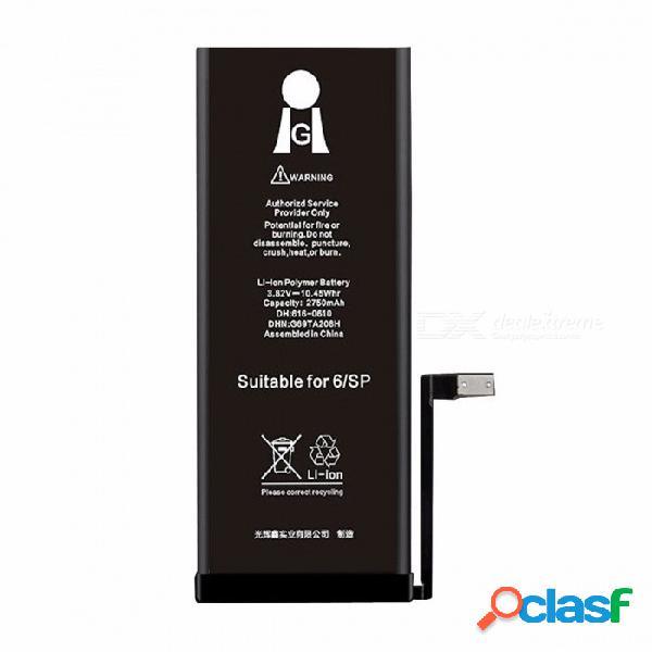 Batería li-ion incorporada para batería de litio de repuesto para el teléfono móvil iphone 6s plus 3.82v 2750mah