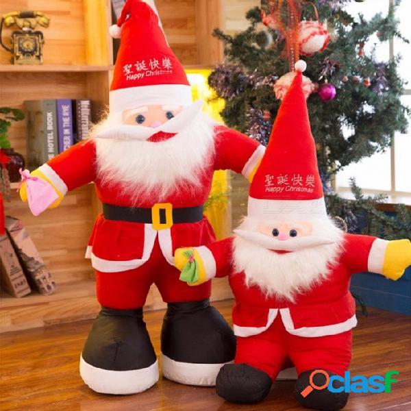 Juguete de la felpa de la muñeca de papá noel regalo de la actividad del regalo de la navidad los 30cm el 11cm-30cm / rojo