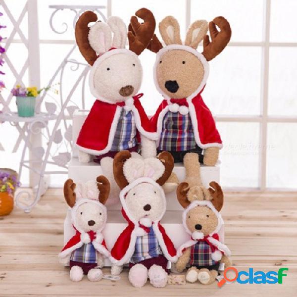 Muñeca del conejo del estilo de los alces de la navidad para la muñeca del regalo de cumpleaños de los niños los 45cm los 31cm-50cm / blanco