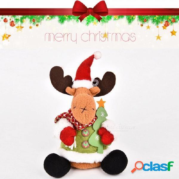 Muñeco de navidad papá noel muñeco de nieve ciervos decoración de navidad, regalo de navidad 25cm 11cm-30cm / caqui oscuro