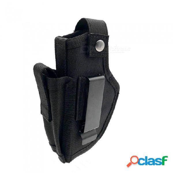 Outdoor tactical equipment hidden general waist set of cs field around the nylon hasp holster outdoor camping+black