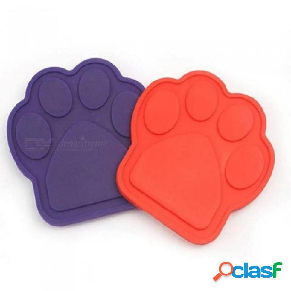 Pet bath buddy slow eating bath fixed suction transfer attention bath artifact pet supplies for bathing grooming m/purple