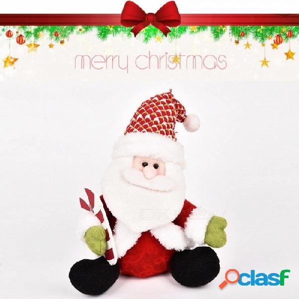 Santa claus muñeca muñeco de nieve venados decoración de navidad regalo de navidad 25cm 11cm-30cm / rojo